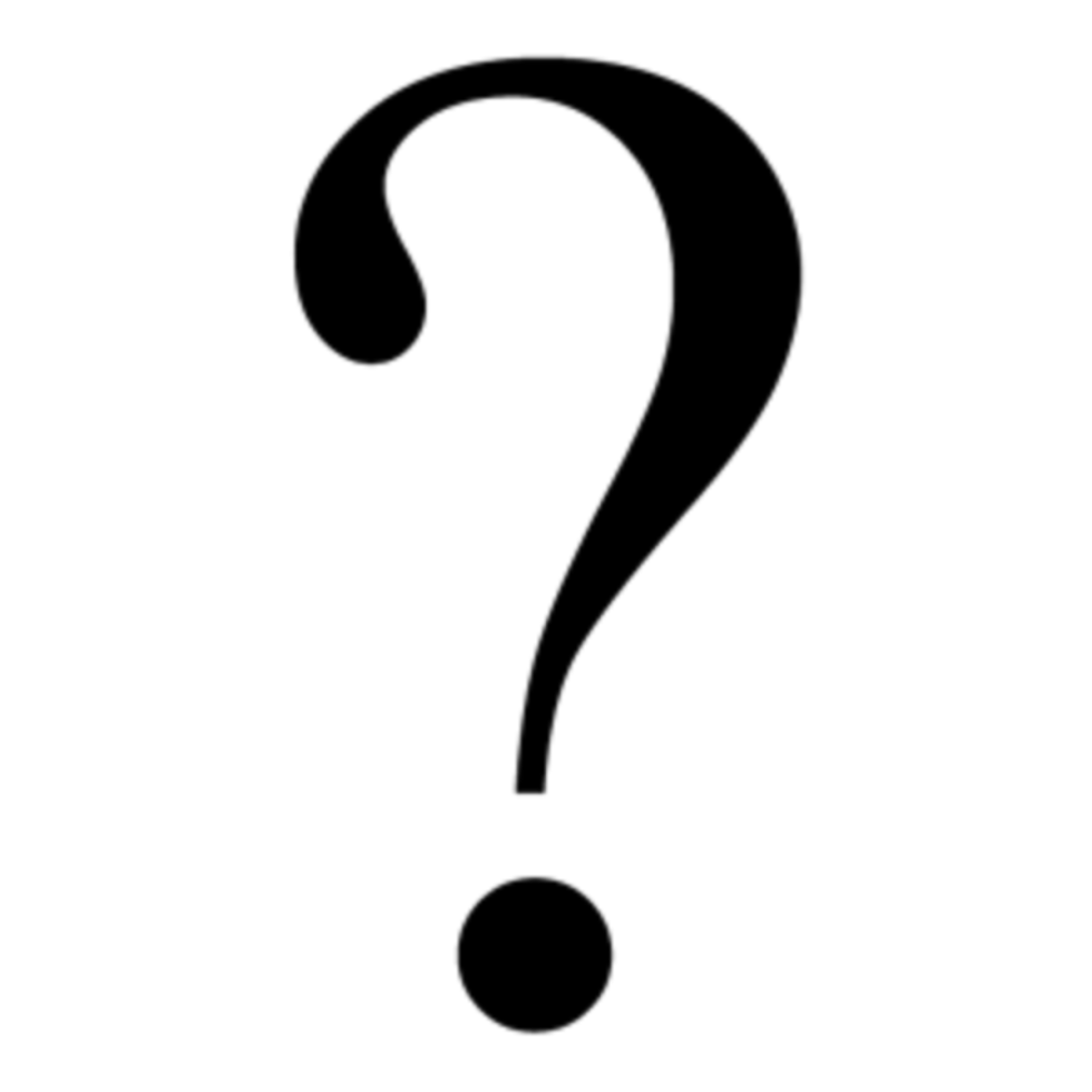 A question mark used to intrigue potential investors or traders.